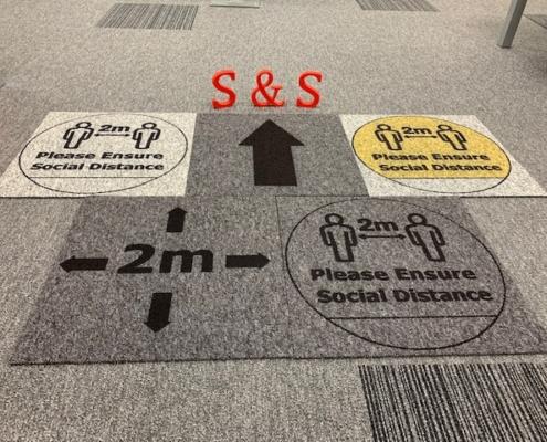 Social Distancing Carpet Tile